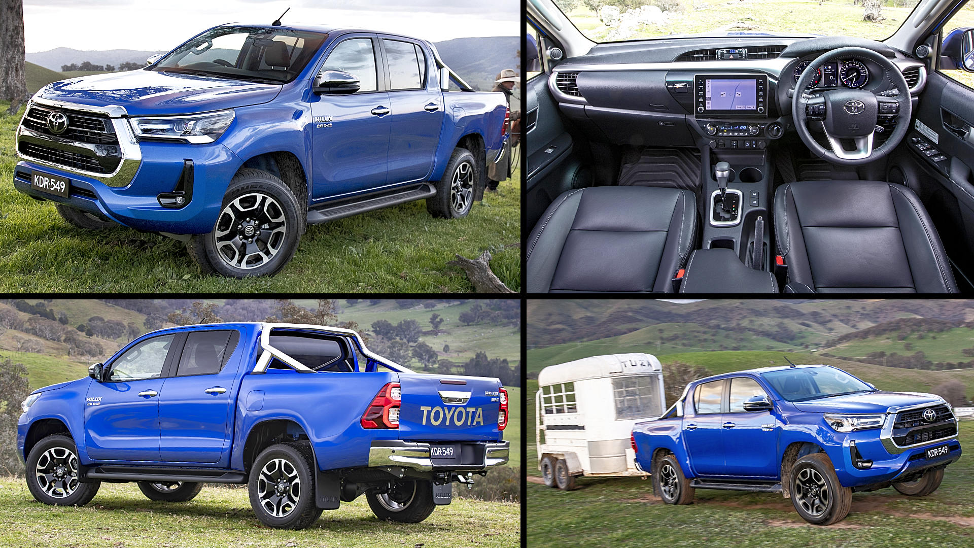 2021 Toyota Hilux SR5 Double Cab Blue Pickup Pictures