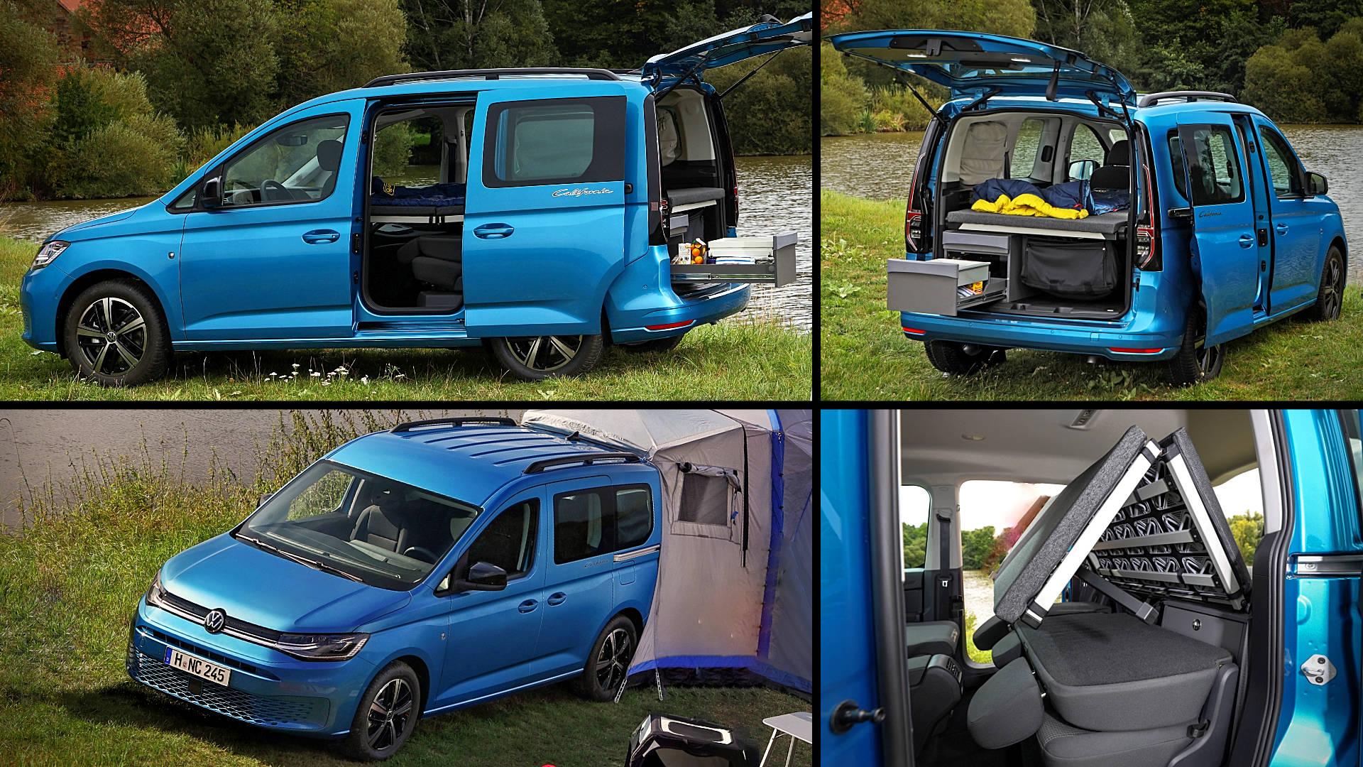 2021 Vw Caddy California Blue Van