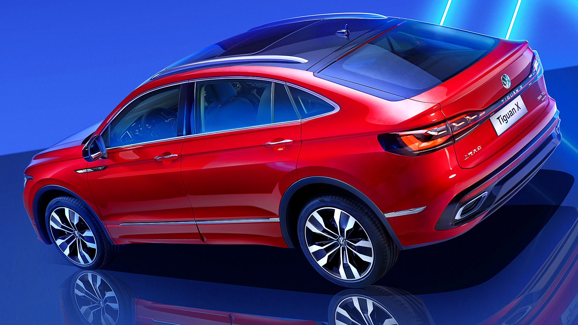 2021 Vw Tiguan X Red Suv Pictures