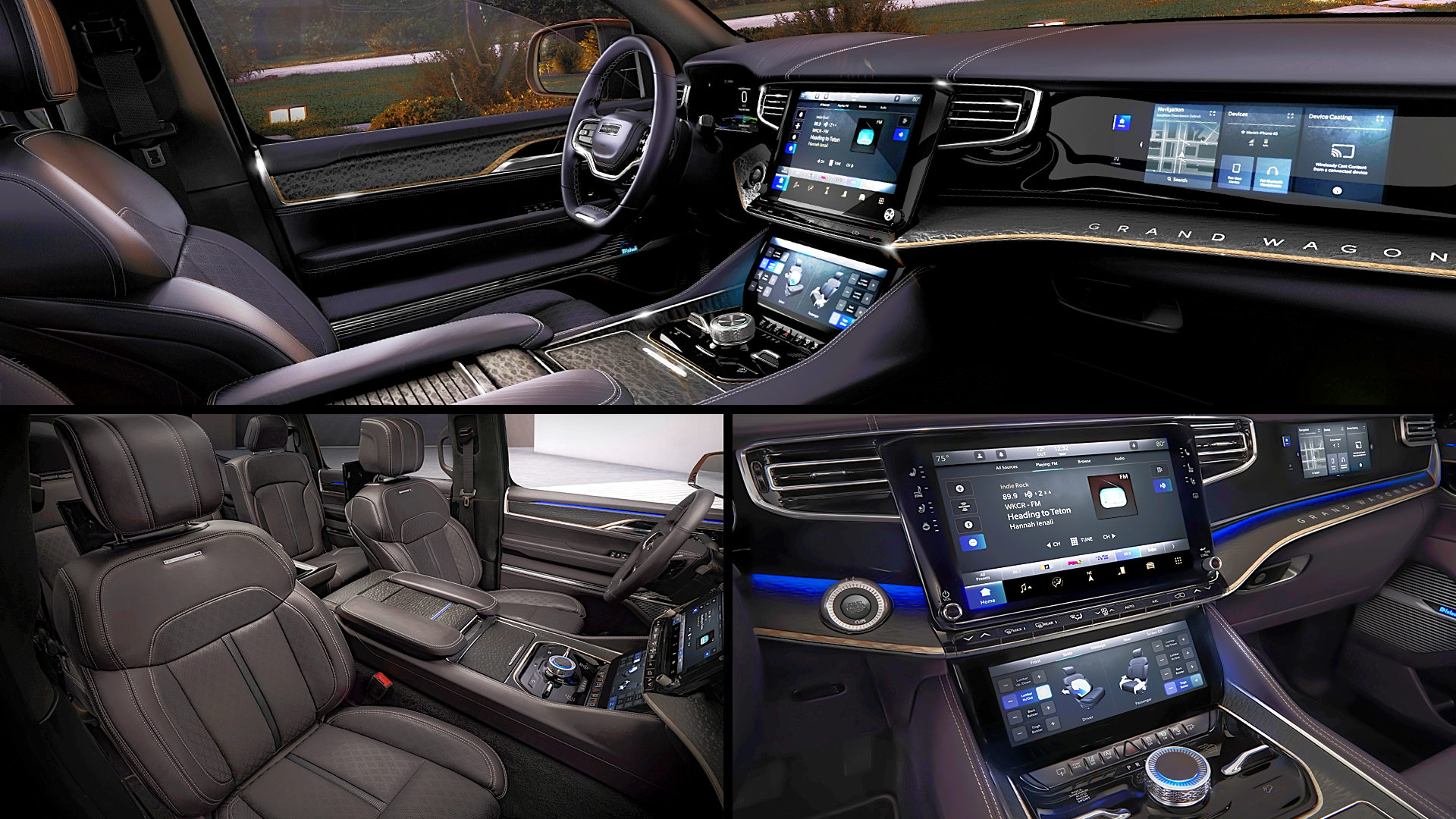 2022 Jeep Grand Wagoneer Inside Interior