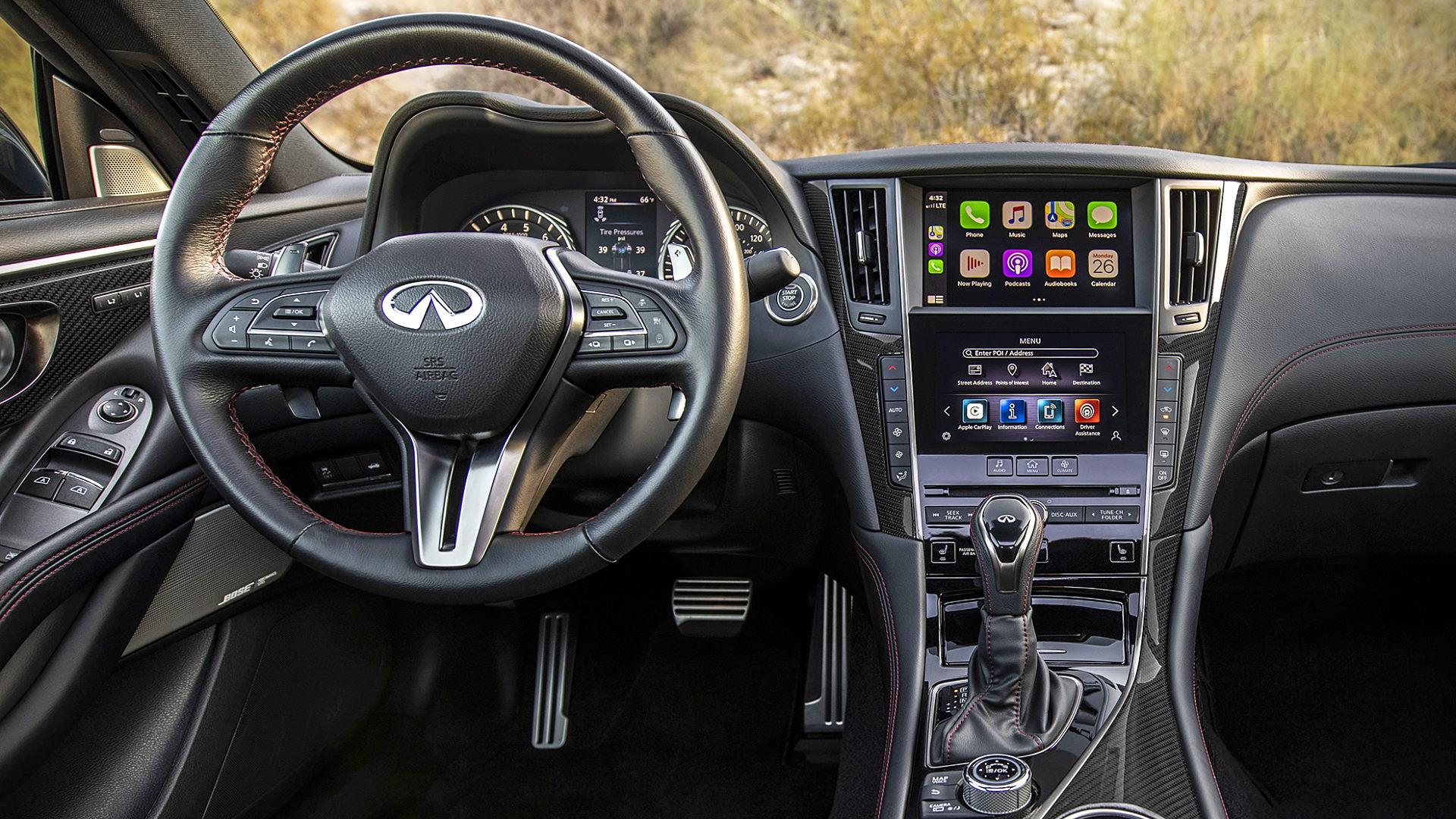 2021 Infiniti Q60 Red Sport Interior