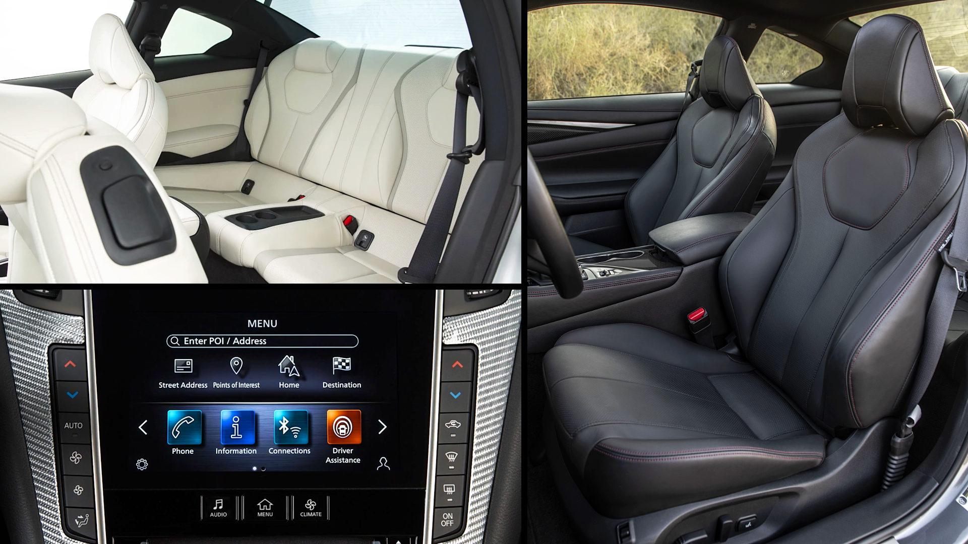 2021 Infiniti Q60 Sport Interior