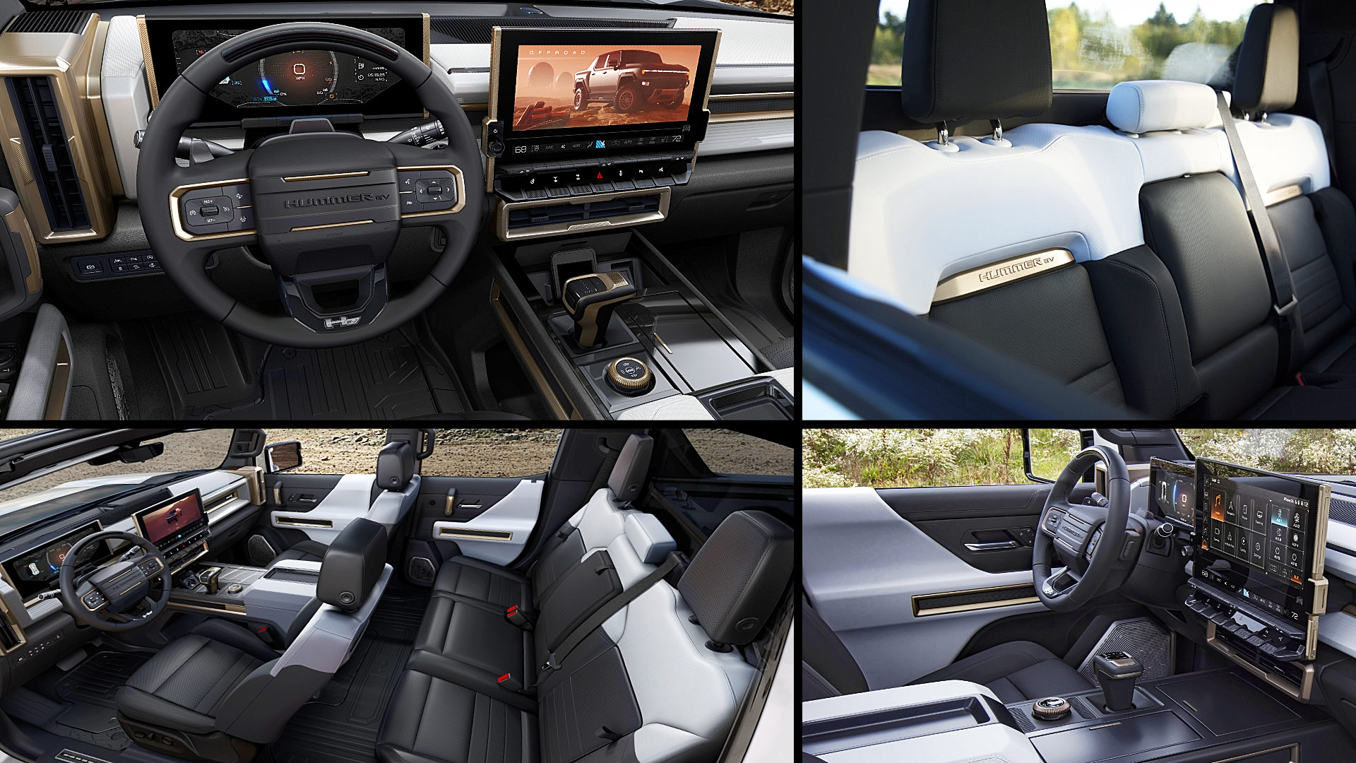 2022 GMC Hummer Electric Truck Interior