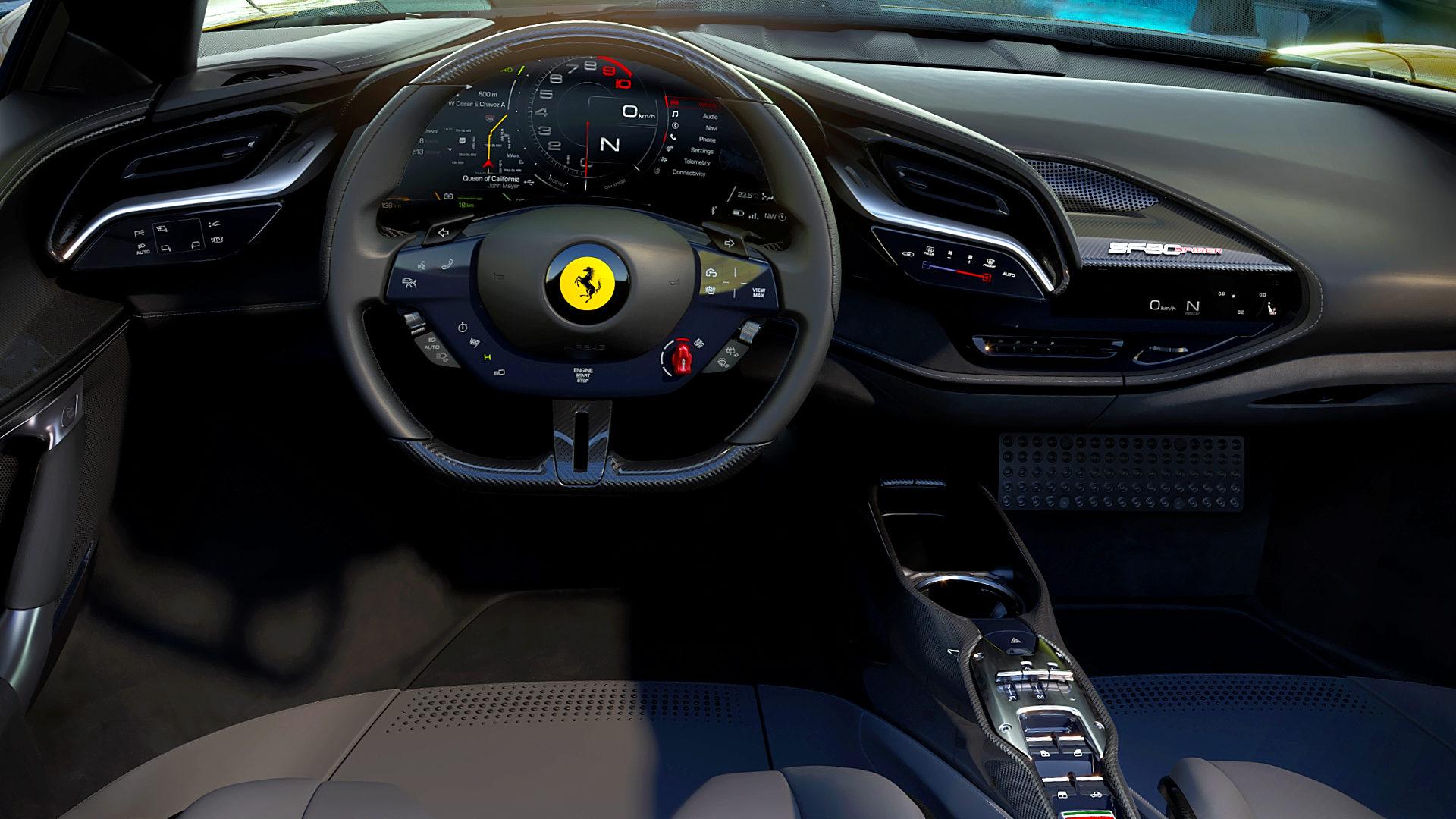 2021 Ferrari SF90 Spider Interior