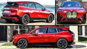 2022 BMW iX Sport Red Pictures