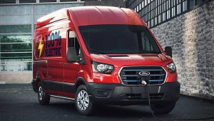 2022 Ford E-Transit Red Pictures